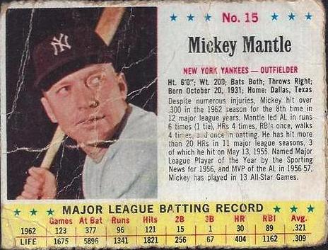 My most treasured card: a 1963 Mickey Mantle Jell-O